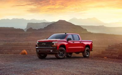2019 Chevrolet Silverado, suv, pickup truck, 4k