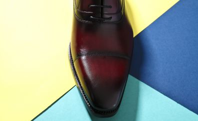 Leather, shoes, close up