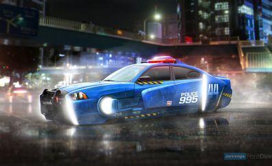 Blade Runner 2049, Spinner, dodge Charger, police car