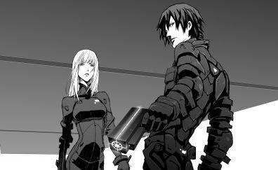 Blame!,  anime, anime boy, anime girl