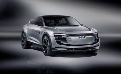 Audi Elaine concept, front view, 4k