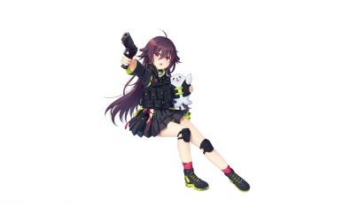 Minimal, anime girl, P226, girls frontline