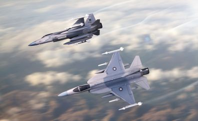 JF-17 Thunder fighter aircrafts