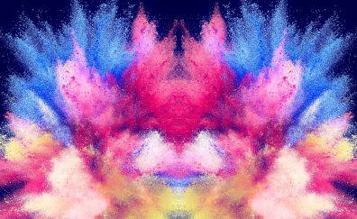 Powder, color, explosion