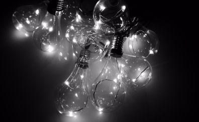 Tungsten Bulbs, lamps, monochrome