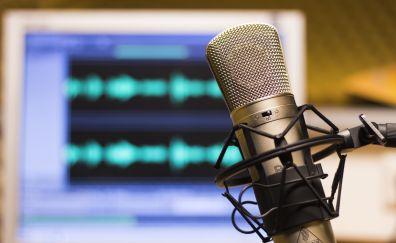 Music, microphone, close up