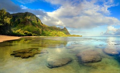 Tunnel beach kauai hawaii