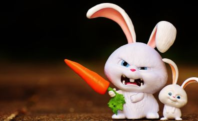 Funny bunny with carrot