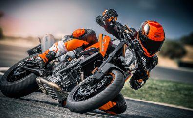 2018 KTM 790 Duke, race bike, 4k