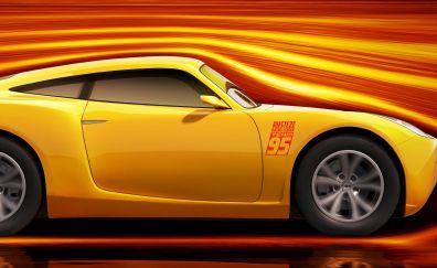 2017 movie, Cars 3, animated movie, yellow car
