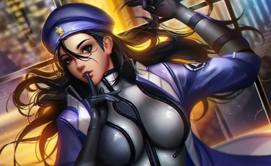 Ana, overwatch, girl, video game