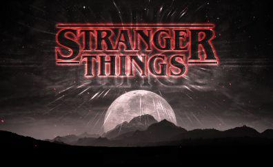 Stranger things, tv show, fan art, poster
