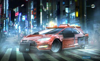 Blade Runner, movie, Deckards sedan, Tesla Model S