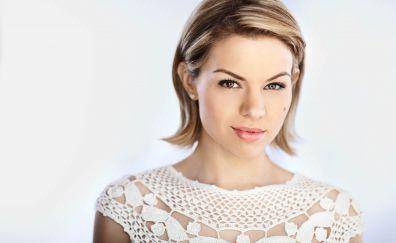 Ali Liebert, beautiful, Canadian actress, face, 4k