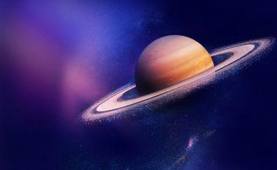Saturn, asteroid rings, space