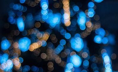 Glare, lights, bokeh, circles