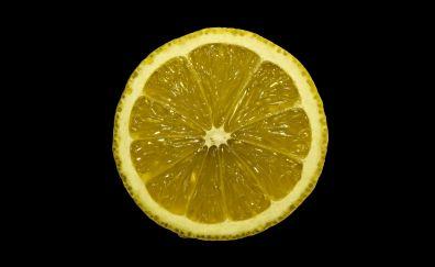 Lemon slice, close up