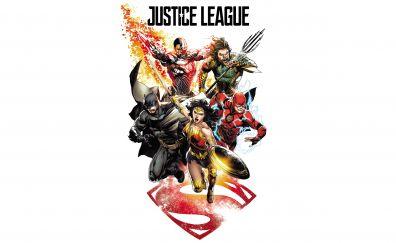 Justice league, minimal, 2017, comic art