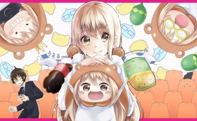 Cute girls, anime, Himouto! Umaru-chan