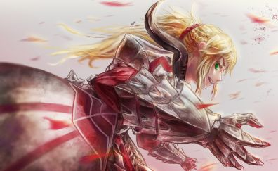 Saber of red, blonde girl, fate/apocrypha