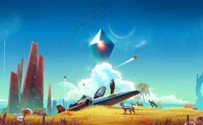 No Man's Sky, Video game, spacecraft