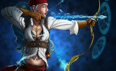 Fantasy pirates girl