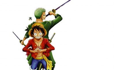 Roronoa Zoro, Monkey D. Luffy, one piece, anime boy