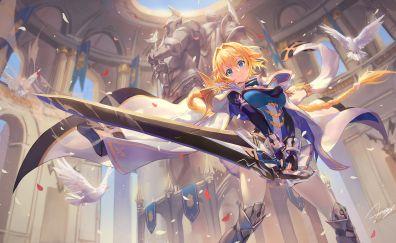 Saber, Fate series, anime girl, art