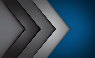 Arrows, material design, abstract, 4k