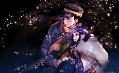 Anime, couple, Golden Kamuy