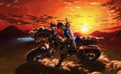 The Legend of Zelda: Breath of the Wild, master cycle zero, bike, video game, 5k