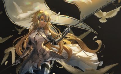 Ruler, jeanne d'arc, anime, art, 5k