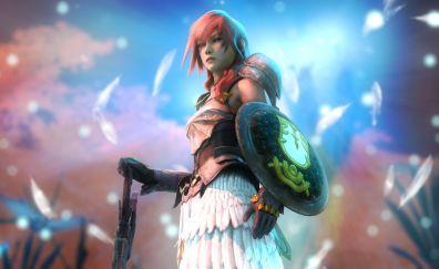 Final Fantasy XV: Episode Ignis, girl warrior, lightning, video game, 4k