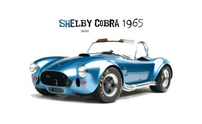 1965 Shelby Cobra, car, art
