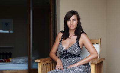 Connie Carter, model, brunette