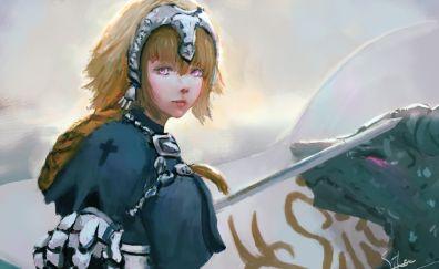Anime girl, Fate Series, Ruler, blonde, art