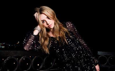 Peyton List, celebrity, blonde, black dress