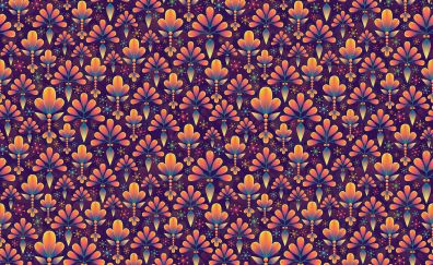 Flowers, texture, pattern, abstract, 5k