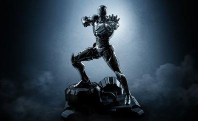 Iron man, statue, new black suit, 5k