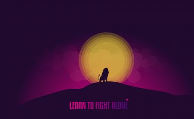 Learn to fight alone, minimal, quote