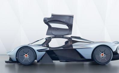 Hybrid car, Aston Martin Valkyrie, side view, sports