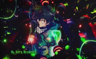 My hero Academia, anime boy, Izuku Midoriya