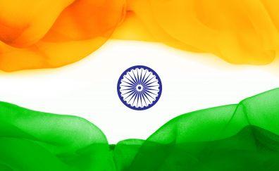 Indian, flag, circles, art, 5k