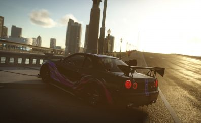 The crew, game, car, city, road