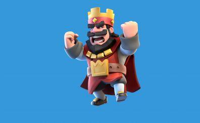 Angry king, clash royale, mobile game