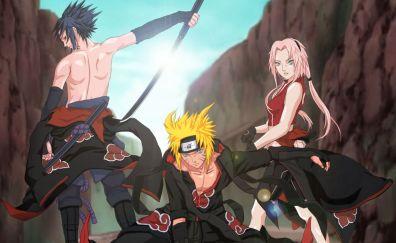 Naruto Uzumaki, Sakura Haruno, Sasuke Uchiha, Naruto, anime