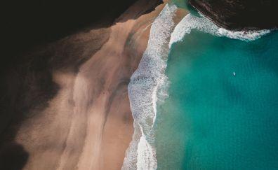 Beach, aerial view, sea