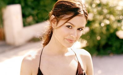 Brunette girl, smile, Rachel Bilson