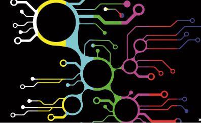 Digital artwork of electronic circuit
