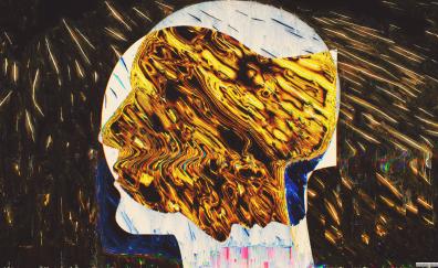 Human face, glitch artwork